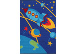 Network Rugs Space Blue Rubber Backed Kids Rug