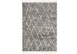 Network Rugs Pebble Grey Zohra Fringed Rug