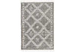 Network Rugs Pebble Grey Rabia Fringed Tribal-Style Rug