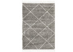 Network Rugs Pebble Grey Nahla Fringed Rug