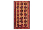 Network Rugs Cream & Red Wool Balouchi Rug