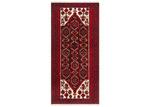 Network Rugs Red & White Oriental Wool Balouchi Rug