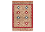 Network Rugs Natural Wool Azerbaijani Kilim Rug