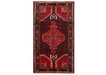 Network Rugs Red & Navy Wool Persian Hamadan Rug