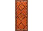 Network Rugs Burnt Orange Wool Azerbaijani Kilim Rug
