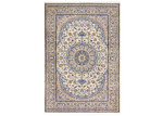Network Rugs Blue & Cream Wool Persian Nain Rug
