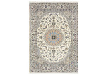 Network Rugs Blue & Ivory Nain Wool Persian Rug