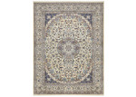 Network Rugs Navy & Cream Nain Wool Persian Rug