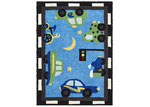 Network Rugs Curious Owl Blue Traffic Kid's Rug