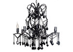 V & M Imports Venice 8 and 1 Light Chandelier in Black