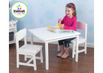 KidKraft Aspen Table and 2 Chair Set in White for 3-8 yr olds