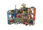 KidKraft Everyday Heroes Police and Fire Station Wooden Play Set