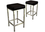 By Designs 65cm Nathaniel Metal Stool (Set of 2)