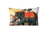 Vintage Beach Shack Performing Elephants Cushion Cover