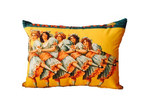 Vintage Beach Shack Bloomers Rectangle Cushion