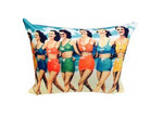 Vintage Beach Shack Bikini Girls Cushion