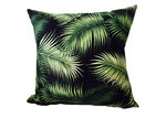 Vintage Beach Shack Noir Palm Cushion Cover