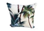 Vintage Beach Shack Palm Tree Cream Cushion