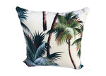 Vintage Beach Shack Palm Tree Cushion Cover