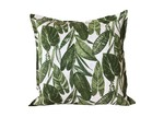 Vintage Beach Shack Summer Leaves Linen Cushion