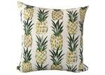 Vintage Beach Shack Pina Print Outdoor Cushion