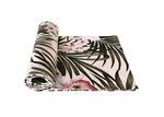 Vintage Beach Shack Tropical Palm Cotton Table Runner