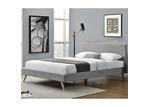 Mikasa Furniture Grey Nicole Upholstered Bed Frame
