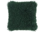 NSW Leather Emerald Mongolian Sheepskin Cushion