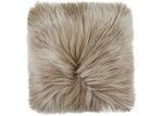 NSW Leather Beige Himalayan Goat Skin Cushion
