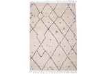 Atlas Ivory Nadia Bohemian-Style Geometric Rug