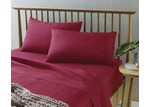 The Big Sleep Red Microfibre Sheet Set
