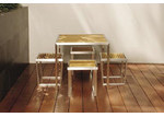 R&V Living Kauai Dining Table with Fixed Legs