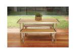 R&V Living Plantation Teak & Steel Dining Table
