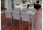 R&V Living Reflective 80cm x 150cm Dining Table