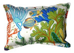 Bungalow Living Coral Reef Accent Pillow