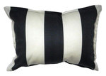 Bungalow Living Noire and Ivoire Ligne Accent Pillow