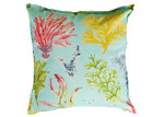 Bungalow Living Aqua Coral Garden Outdoor/Indoor Cushion