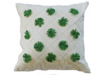 Bungalow Living Green Pom Pom Cushion