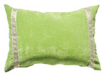 Bungalow Living Green Greek Key Velvet Lumber Cushion