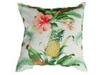 Bungalow Living Parrots, Pineapples & Pink Hibiscus Outdoor/Indoor Cushion