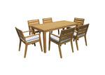 Maya Outdoor Furniture 6 Seater Bernie Eucalyptus Wood Outdoor Dining Set