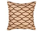 Global Treasures Eco-Accents Tile Print Hessian Cushion