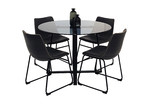 Homestar Furniture 4 Seater Akira Faux Leather Dining Set