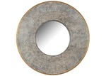 The Home Collective Sanvi Round Carved Petal Mirror