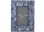 """The Home Collective Indigo Blue Amia 4 x 6"""" Photo Frames (Set of 2)"""