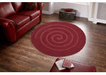 Ground Work Rugs Design Swirl Red Rug
