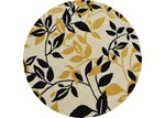 Ground Work Rugs Gold Leaf Halb Round Wool-Blend Rug