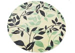 Ground Work Rugs Green Leaf Halb Round Wool-Blend Rug