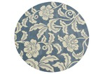 Ground Work Rugs Blue Halb Round Wool-Blend Rug
