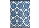 Ground Work Rugs White & Blue Chatai Classic Outdoor Rug